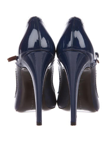 Bottega Veneta Patent Leather Lizard-Accented Pumps clearance best store to get cheap prices reliable RKuR8FX