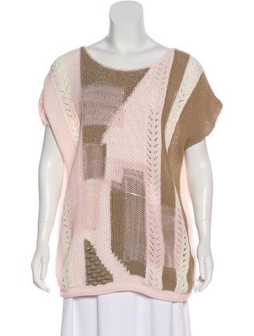 Bottega Veneta Crochet Cap Sleeve Top Clothing Bot57823 The