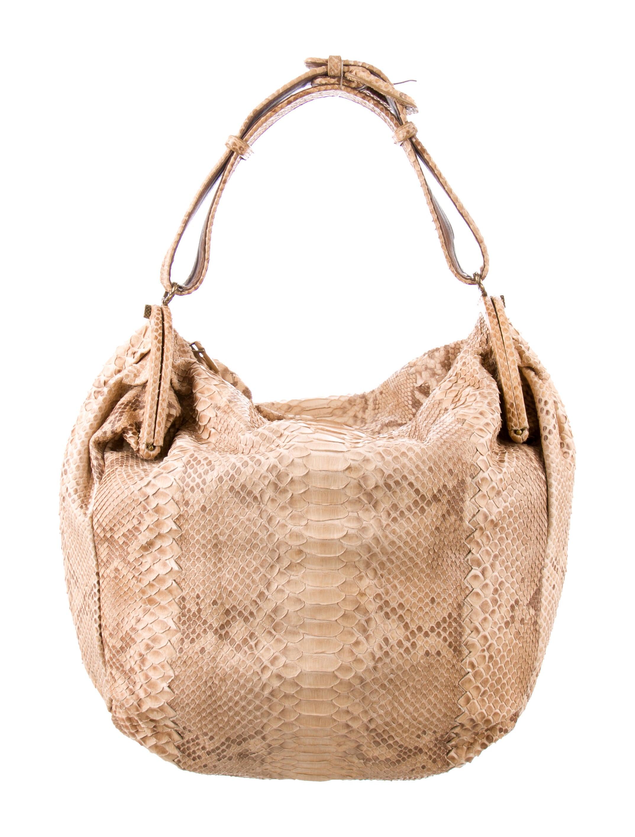 51ada987fa Bottega Veneta Duette Python Bag - Handbags - BOT58600