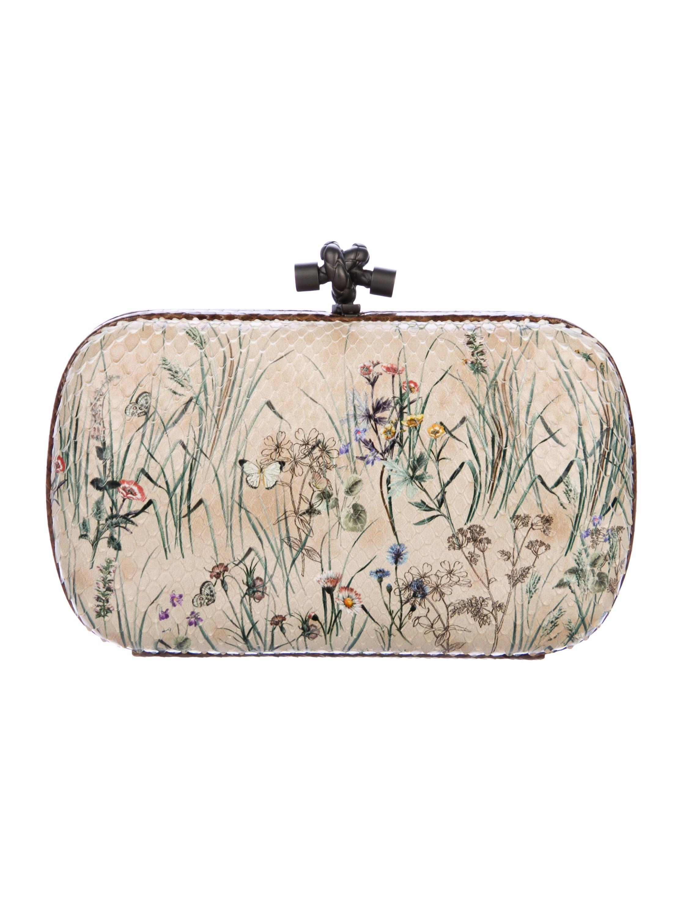 Bottega Veneta Python Knot Clutch - Handbags - BOT60912  ee00672904ef0