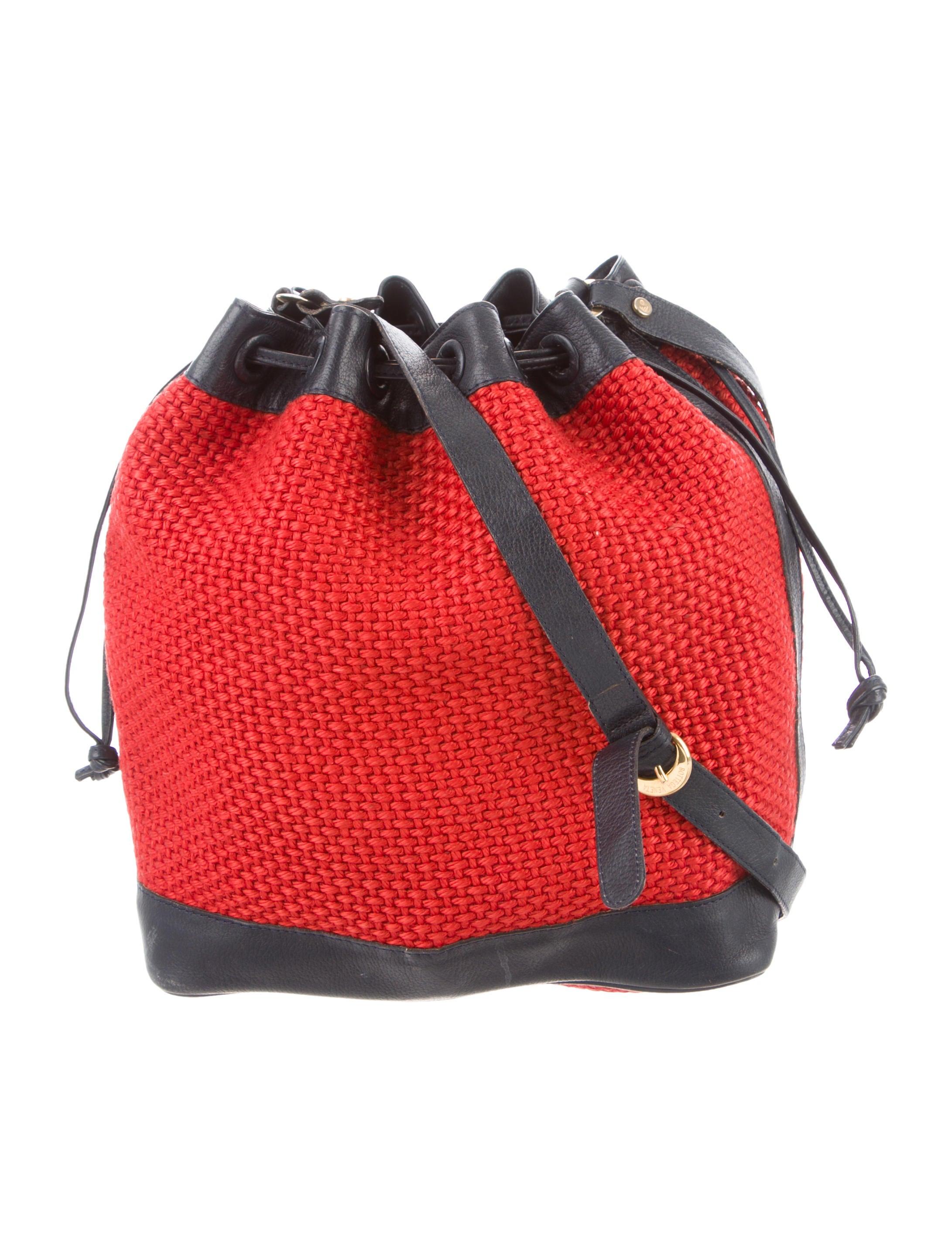 717d6221a4a4 Bottega Veneta Leather-Trimmed Bucket Bag - Handbags - BOT61427 ...
