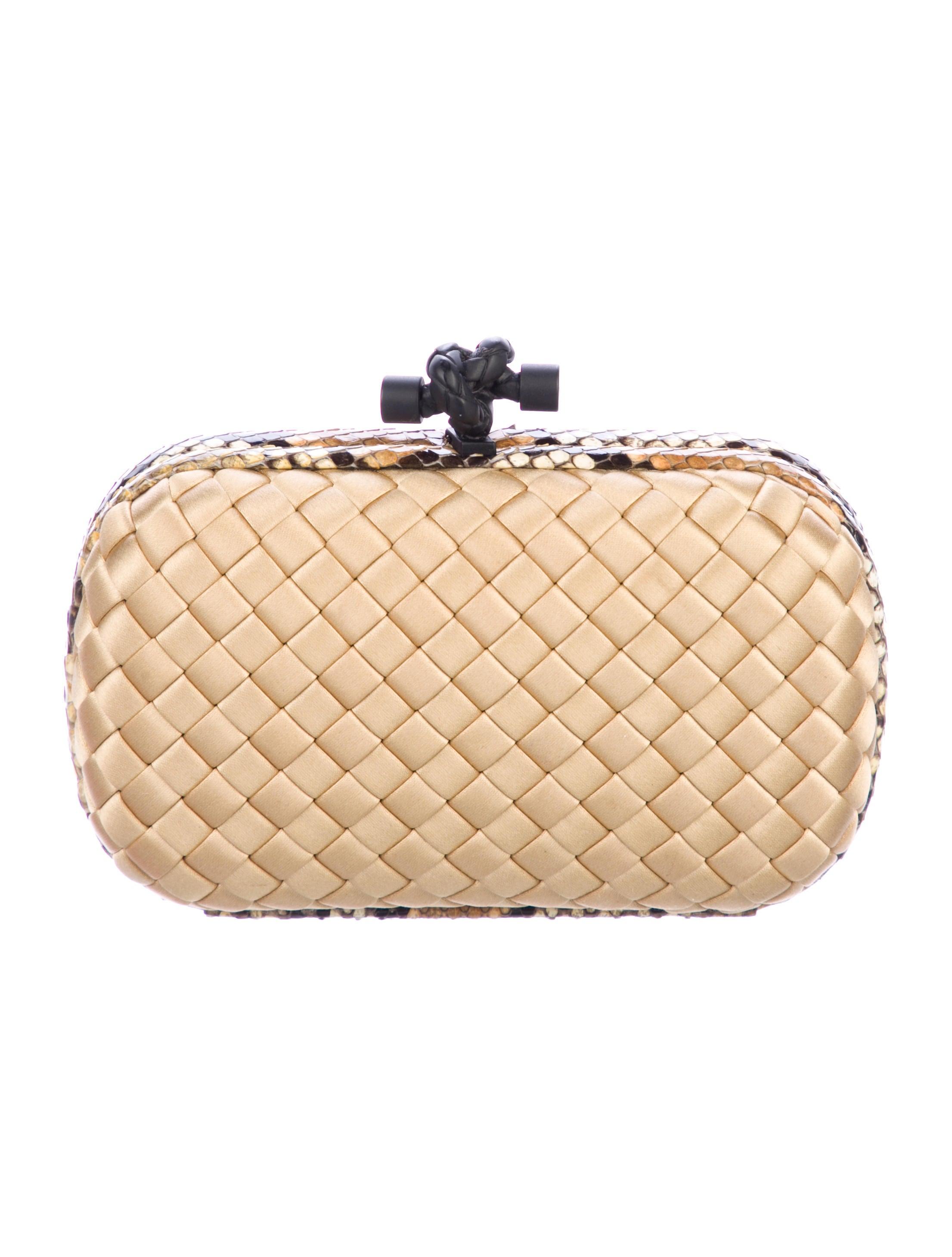 Women · Handbags  Bottega Veneta Snakeskin-Trimmed Knot Clutch. Snakeskin-Trimmed  Knot Clutch 5a1871e5ec2fd