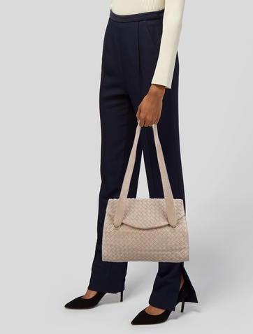 49376b0b4596 Bottega Veneta. Intrecciato Leather Shoulder Bag