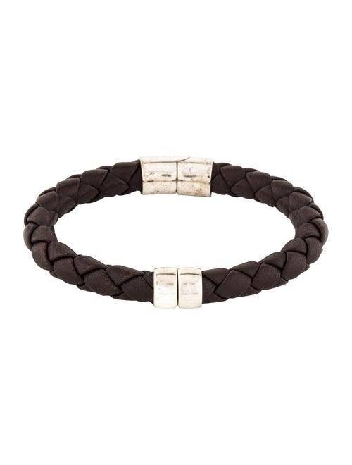 2090b8a862624 Bottega Veneta Leather Hinge Bracelet - Bracelets - BOT64515