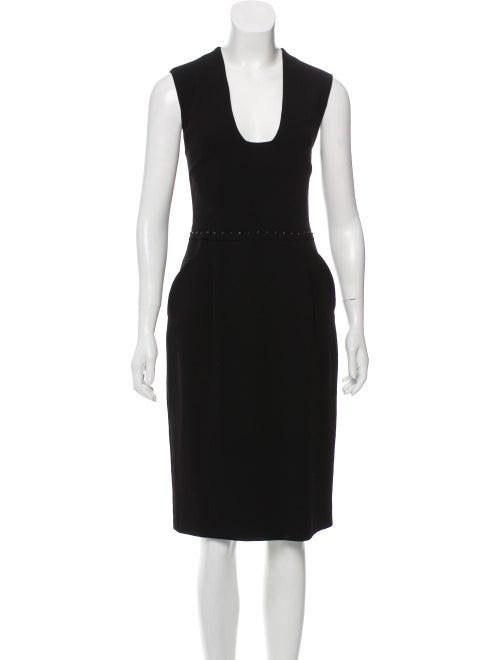 Bottega Veneta Studded Midi Dress Black