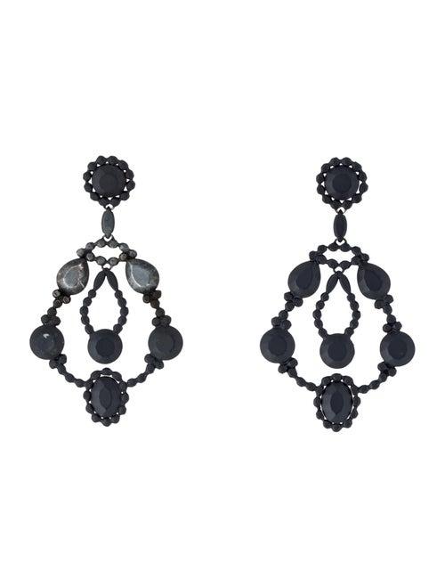 Bottega Veneta Blackened Chandelier Earrings silve
