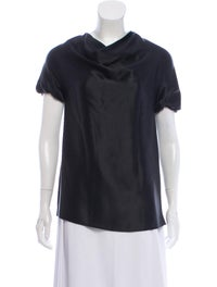 Silk Short Sleeve Top image 1