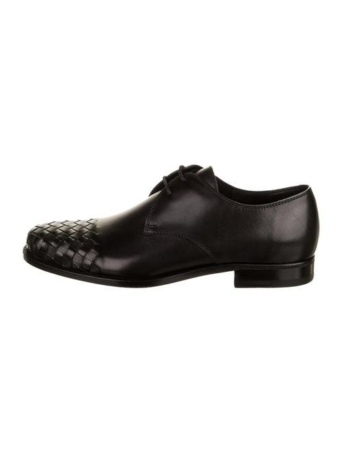 Bottega Veneta Intrecciato Derby Shoes black