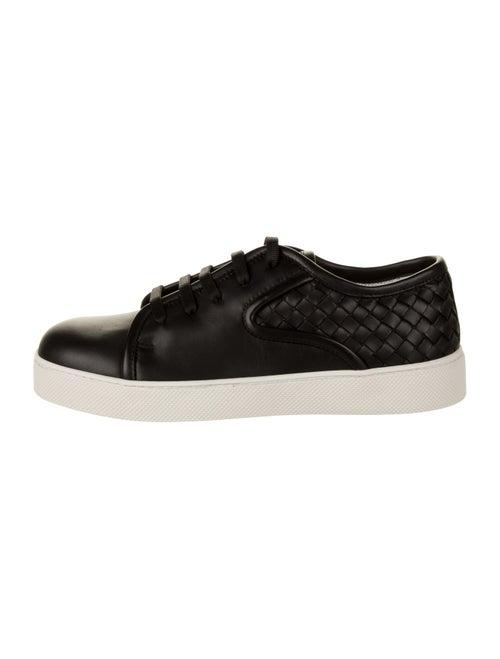 Bottega Veneta Intrecciato-Trimmed Leather Shoes b