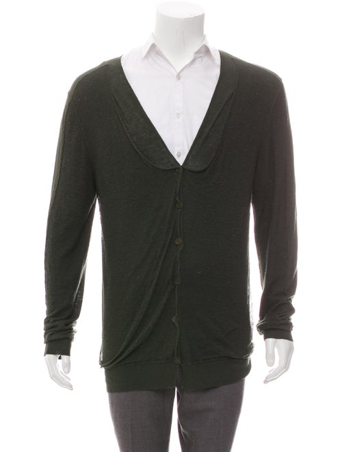 Bottega Veneta Knit Cardigan green