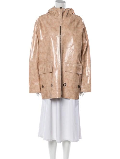 Bottega Veneta Leather Coat Pink
