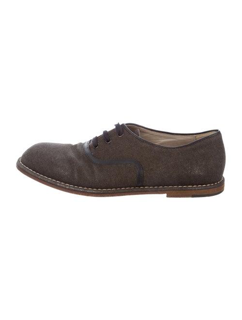 Bottega Veneta Leather-Trimmed Derby Shoes