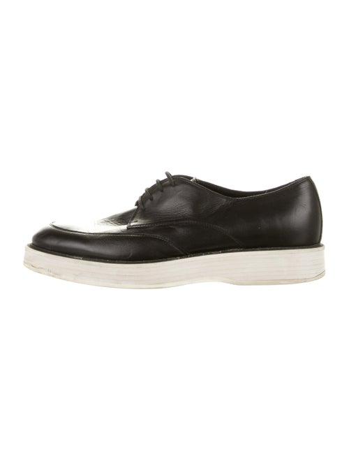 Bottega Veneta Leather Platform Derby Shoes black