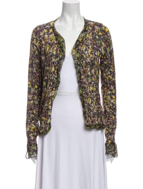 Bottega Veneta Cashmere Tie-Dye Print Sweater Gree