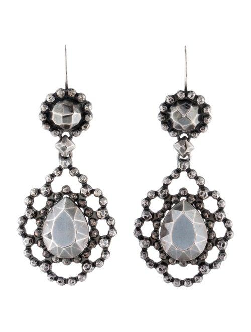 Bottega Veneta Drop Earrings silver