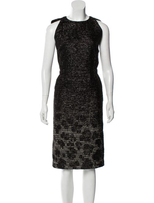 Bottega Veneta Metallic Jacquard Dress Metallic