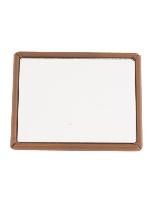 Bottega Veneta Leather-Trimmed Compact Mirror Brow