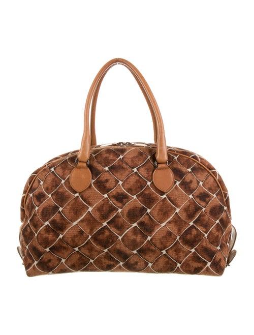 Bottega Veneta Canvas Shoulder Bag Brown