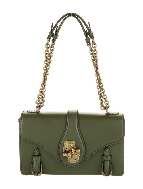 Bottega Veneta City Knot Shoulder Bag Green