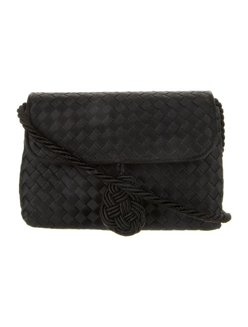 Bottega Veneta Intrecciato Satin Mini Bag Black