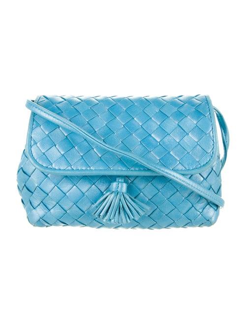 Bottega Veneta Vintage Intrecciato Mini Bag Blue