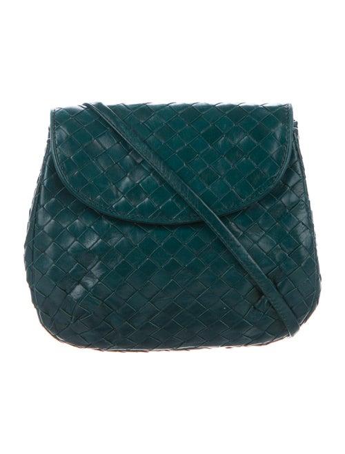 Bottega Veneta Intrecciato Crossbody Bag Blue