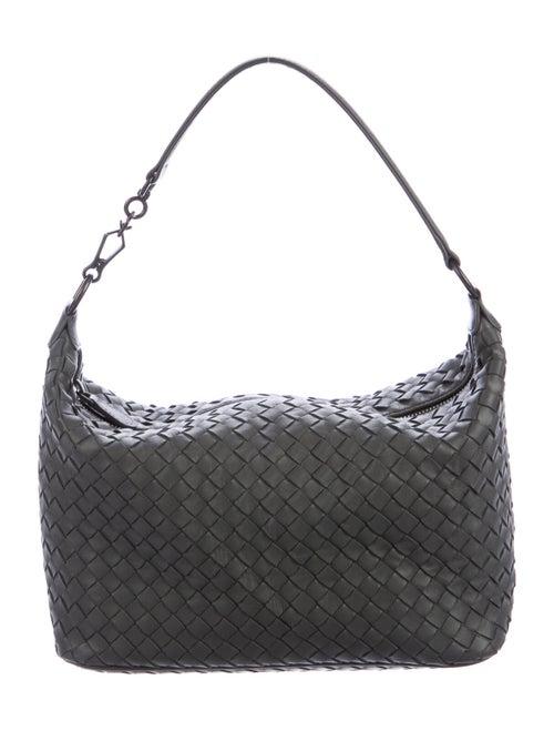 Bottega Veneta Small Intrecciato Shoulder Bag Grey