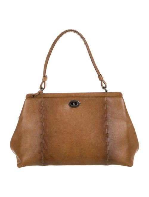 Bottega Veneta Leather Handle Bag Brown