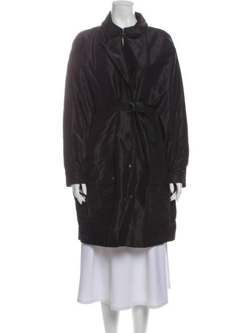 Bottega Veneta Silk Coat Black