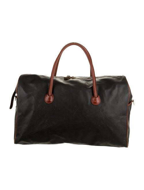 Bottega Veneta Leather-Trimmed Weekender Bag black