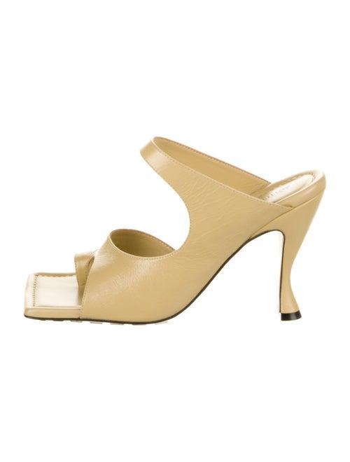 Bottega Veneta Leather Slides Yellow
