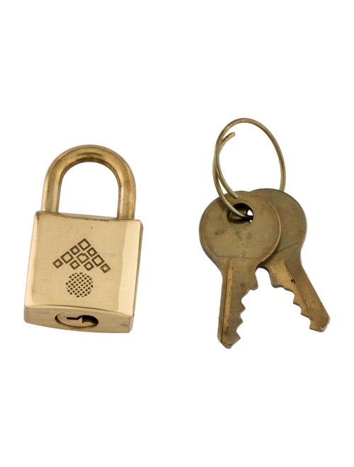 Bottega Veneta Metal Key And Lock Set gold