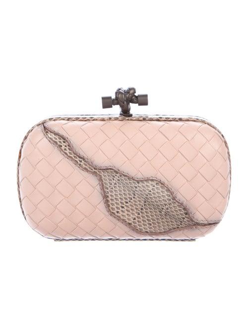 Bottega Veneta Ayers-Trimmed Box Clutch Pink