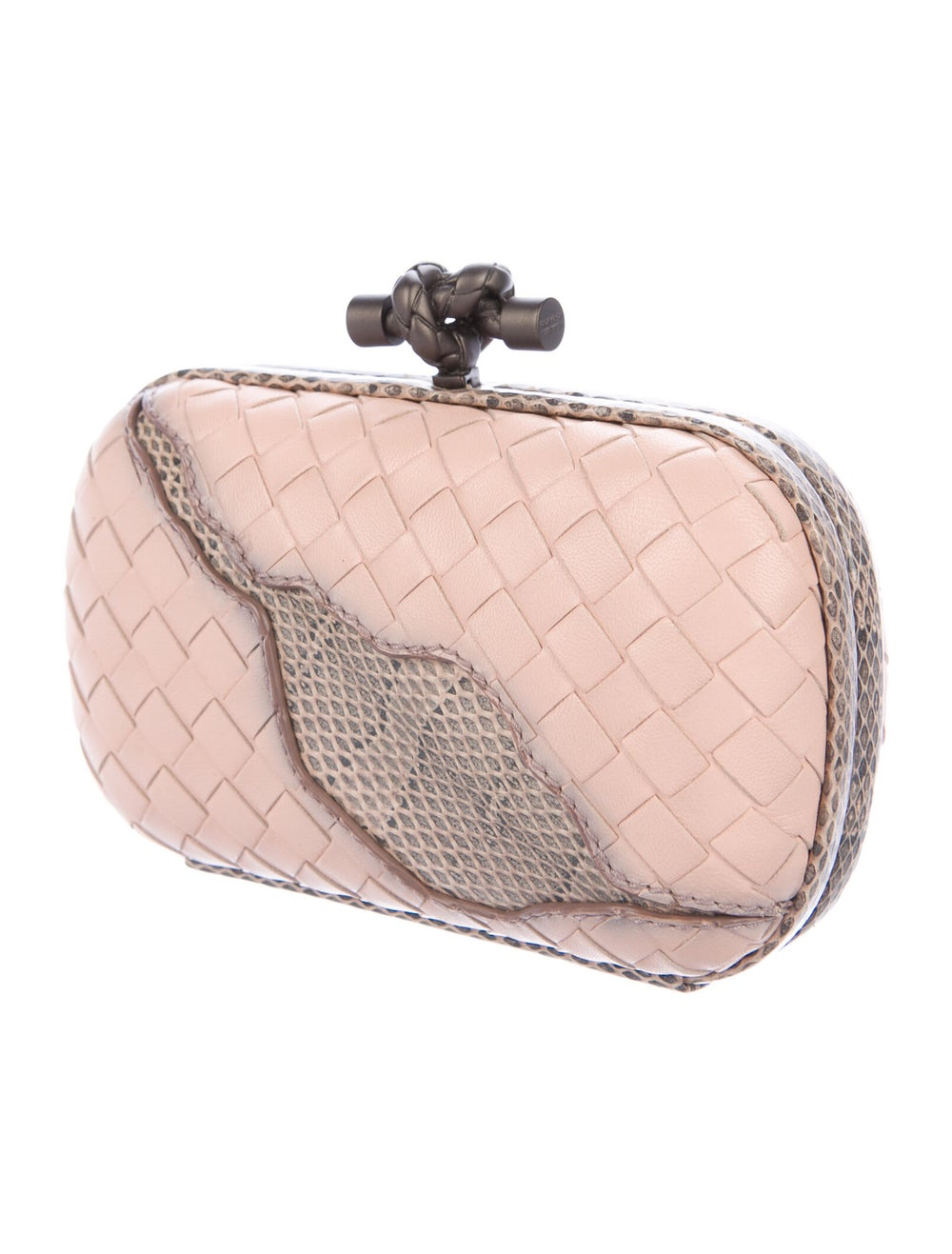 Bottega Veneta Ayers-Trimmed Box Clutch Pink - image 3