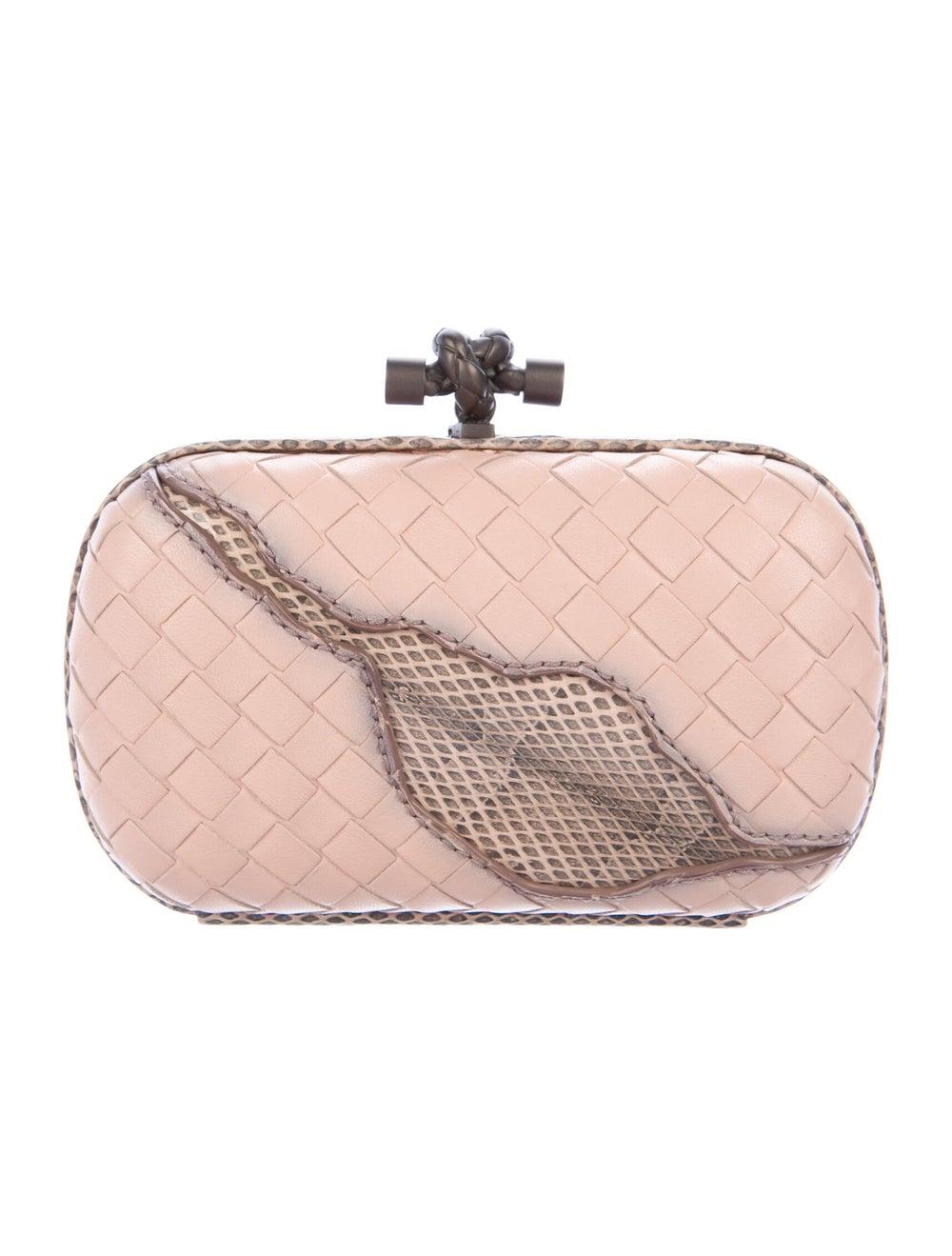 Bottega Veneta Ayers-Trimmed Box Clutch Pink - image 4