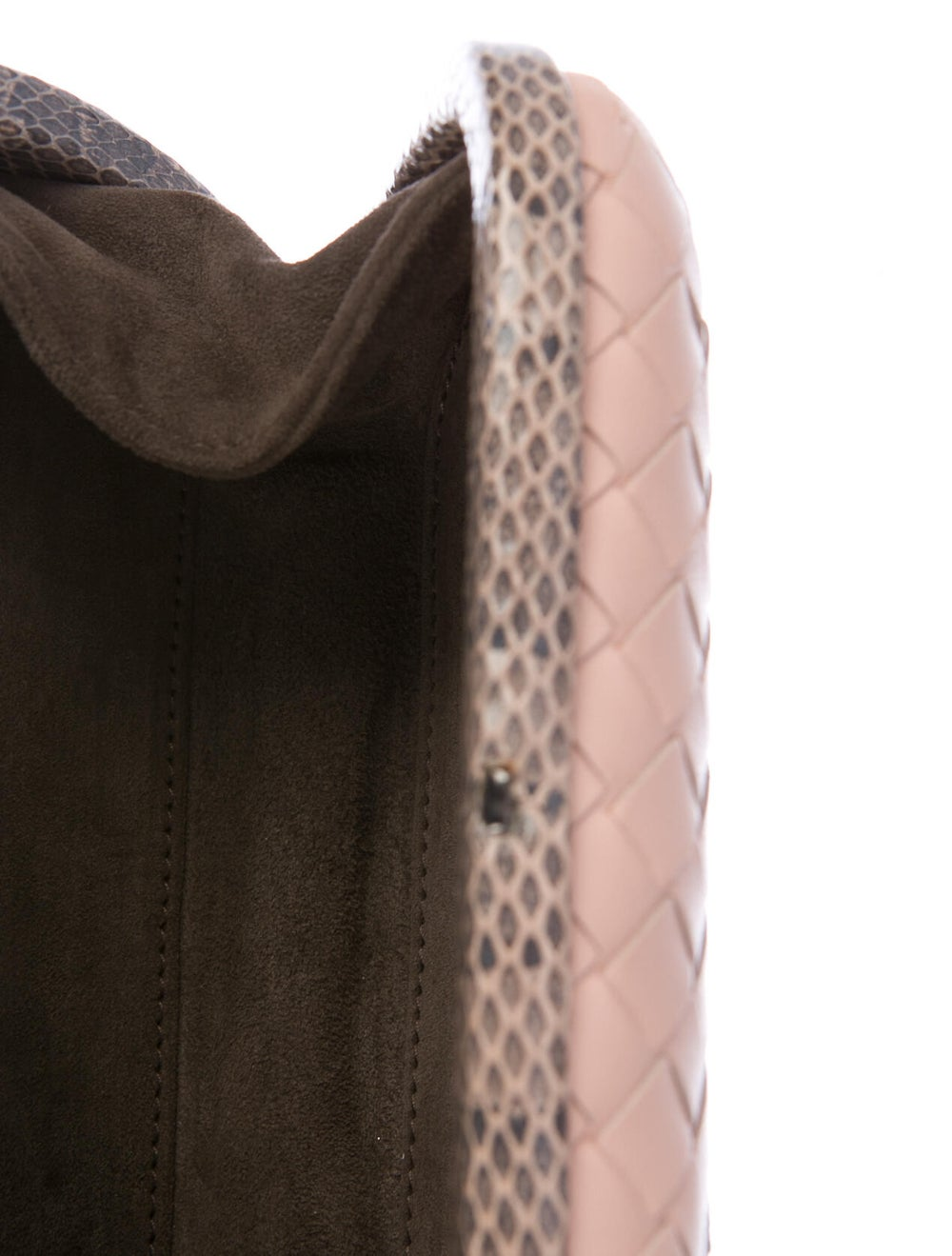 Bottega Veneta Ayers-Trimmed Box Clutch Pink - image 5
