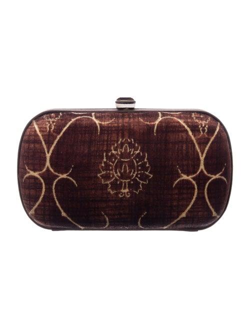 Bottega Veneta Vintage Velvet Box Clutch Brown - image 1