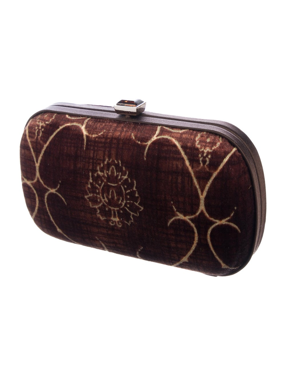 Bottega Veneta Vintage Velvet Box Clutch Brown - image 3