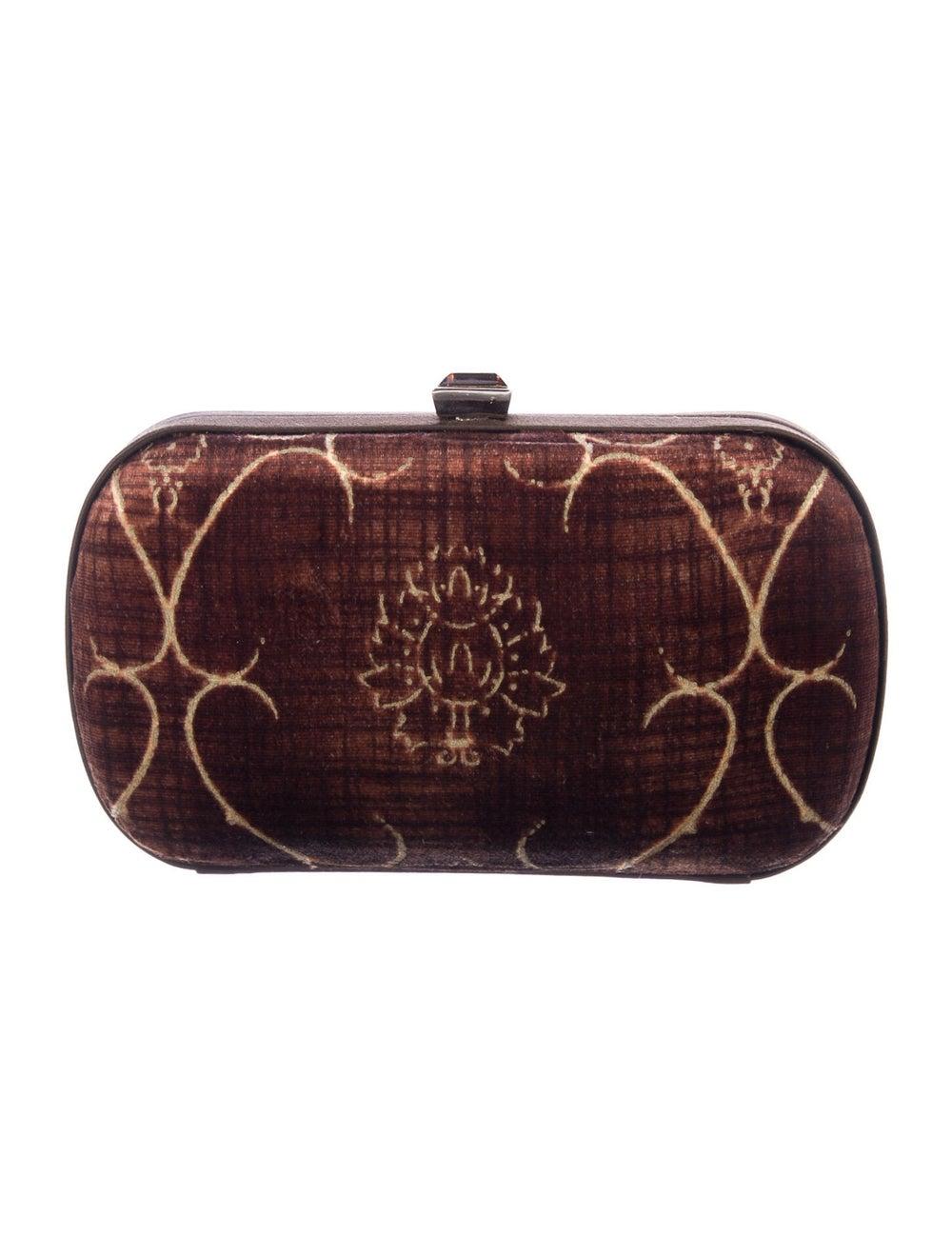 Bottega Veneta Vintage Velvet Box Clutch Brown - image 4