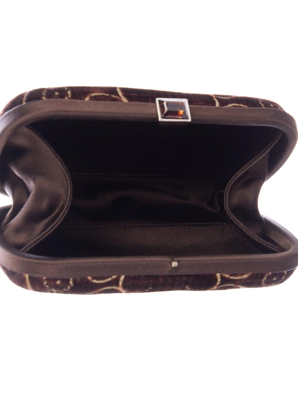 Bottega Veneta Vintage Velvet Box Clutch Brown - image 5