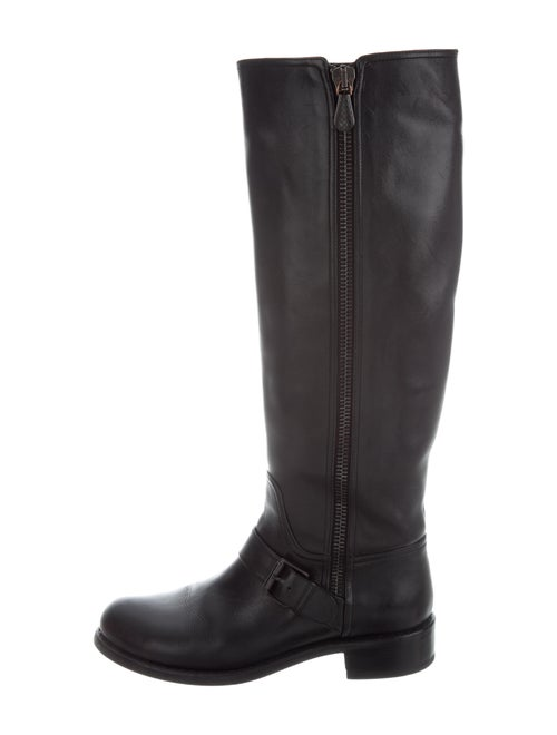 Bottega Veneta Leather Riding Boots Black