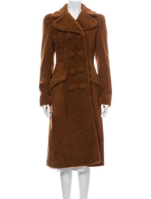 Bottega Veneta Shearling Coat Brown