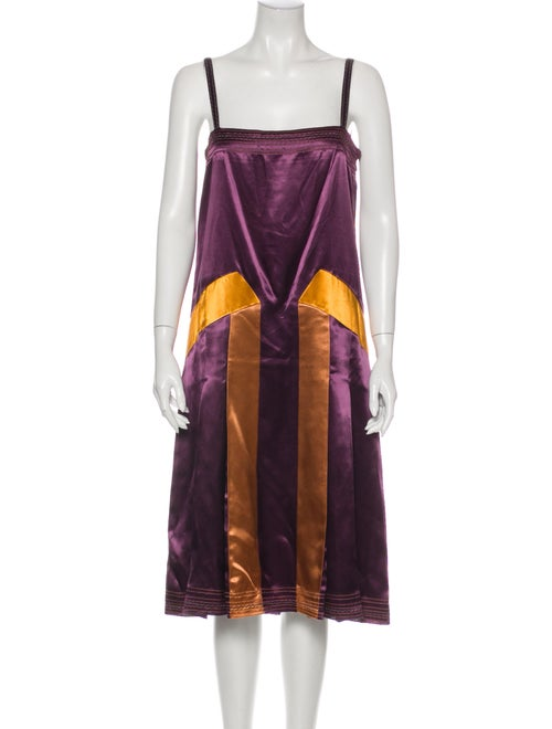 Bottega Veneta Colorblock Pattern Midi Length Dres