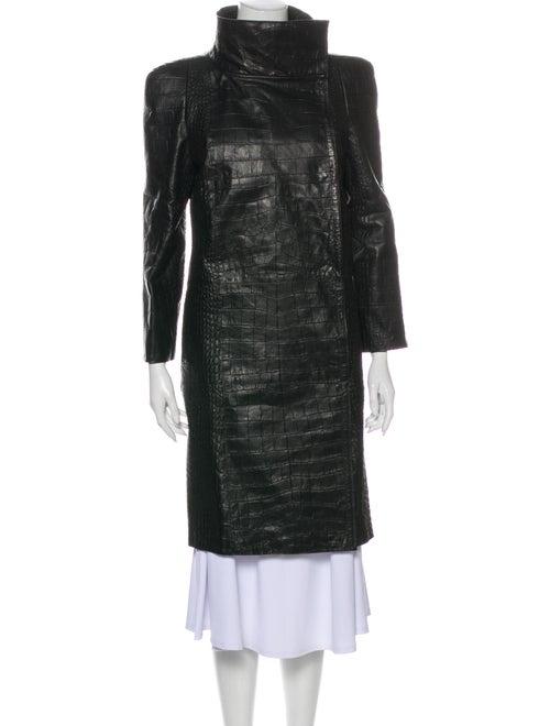 Bottega Veneta Leather Coat Black