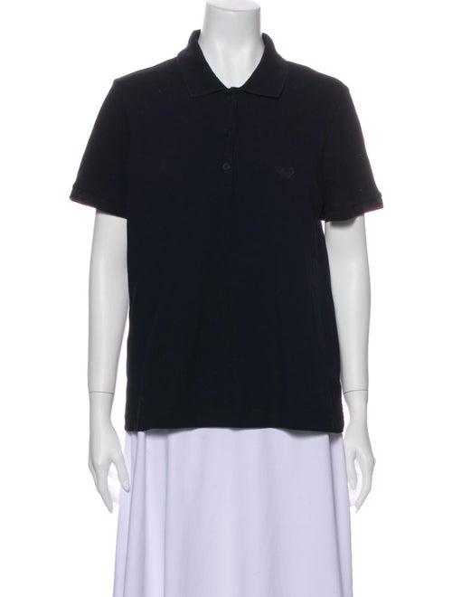 Bottega Veneta Short Sleeve Polo Blue