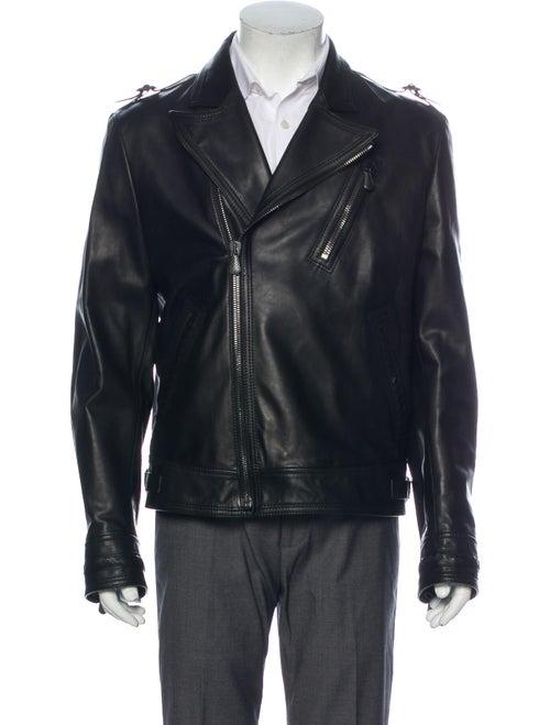 Bottega Veneta Leather Moto Jacket Black