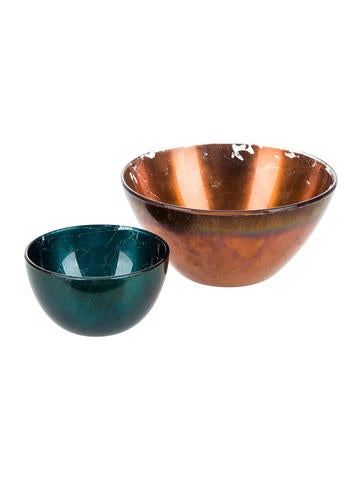 Distressed Metallic Bowls