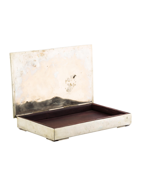 Los castillo mixed metal silver plate box decor and for Artistic accents genuine silver decoration