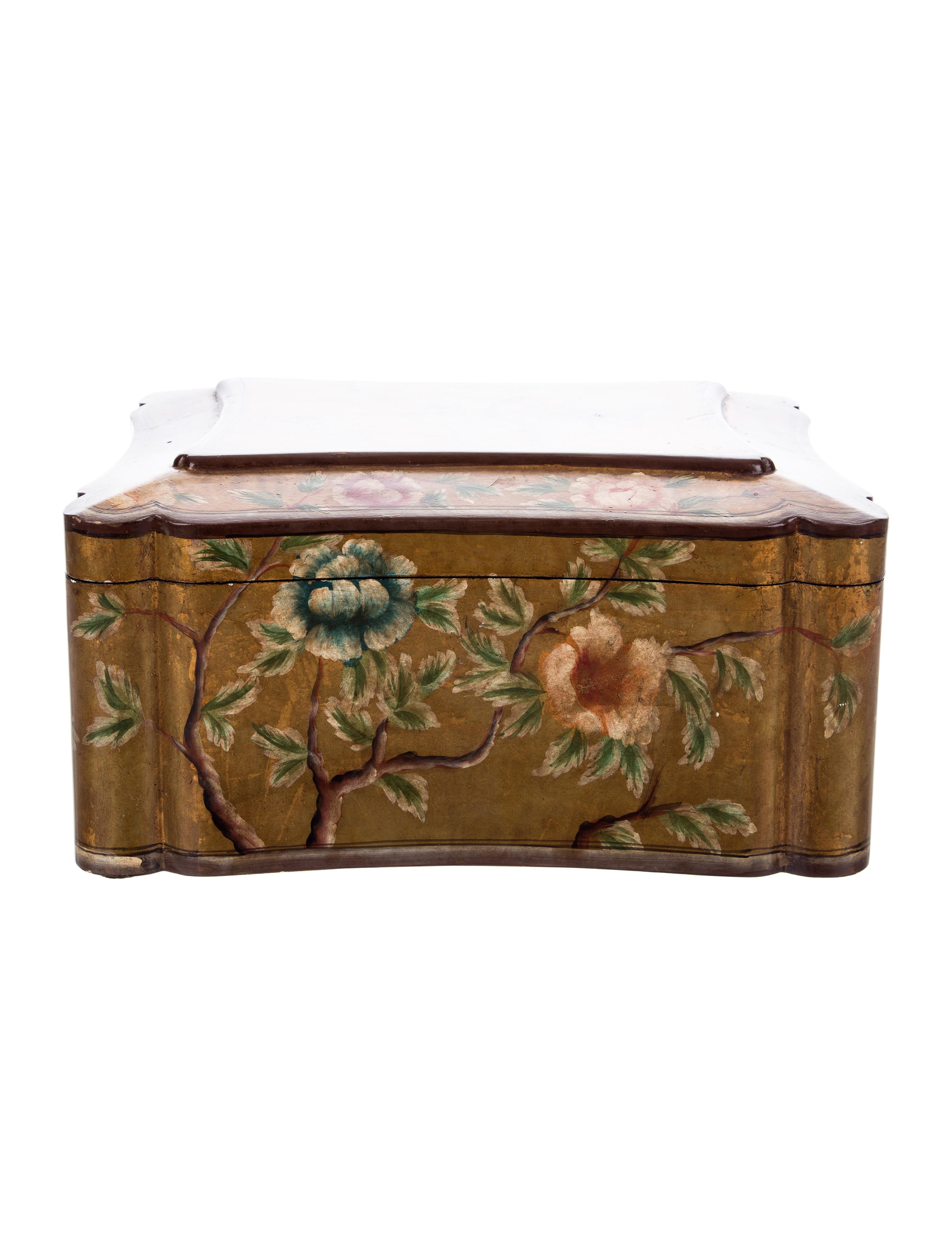 Hand painted wooden chest decor and accessories for Hand painted chests
