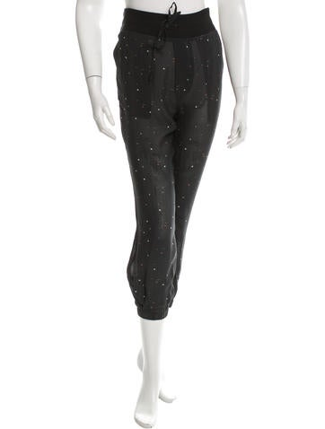 Boy. by Band of Outsiders Printed High-Rise Joggers w/ Tags None
